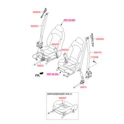 Ремень безопасности, без защелки (Hyundai-KIA) 888102Y2009P