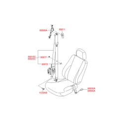 Ремень безопасности, без защелки (Hyundai-KIA) 888202E401U7