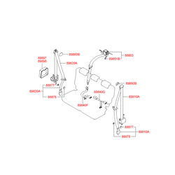 Ремень безопасности, без защелки (Hyundai-KIA) 898502E000WK