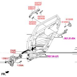 Ручка двери (Hyundai-KIA) 83661D7000