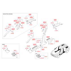 Внутренняя панель стойки кузова (Hyundai-KIA) 858502Y1009P