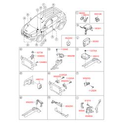 Блок управления центральным замком (Hyundai-KIA) 954002Y302