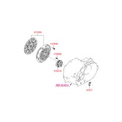 Корзина сцепления в сборе с диском (Hyundai-KIA) 4120024400