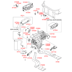 Датчик температуры воздуха салона (Hyundai-KIA) 972802F001
