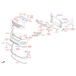 Панель переднего бампера, верхняя (Hyundai-KIA) 86540D7130