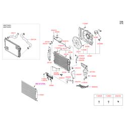 Вентилятор, охлаждение двигателя (Hyundai-KIA) 253802E250