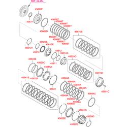Комплект фрикционных дисков АКПП (Hyundai-KIA) 456493B621