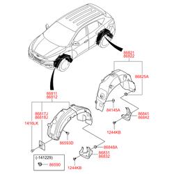 Подкрылок (Hyundai-KIA) 868412S000