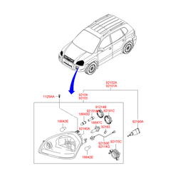 Фара (Hyundai-KIA) 921012E012