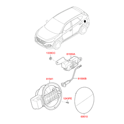 Деталь (Hyundai-KIA) 81550D7000