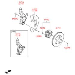 Деталь (Hyundai-KIA) 51715D7000