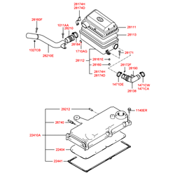 Клапан вентиляции картера ДВС (Hyundai-Kia) 2674002500