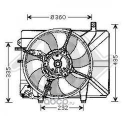 Вентилятор, охлаждение двигателя (DIEDERICHS) 6805101