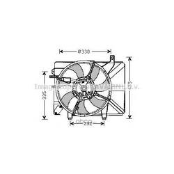 Вентилятор, охлаждение двигателя (Prasco) HY7526