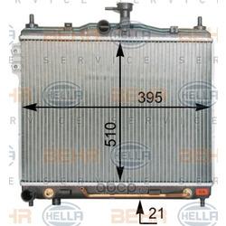 Радиатор, охлаждение двигателя (HELLA) 8MK376762031