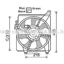 Вентилятор, охлаждение двигателя (Prasco) HY7534