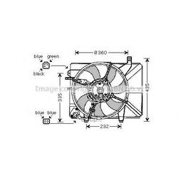 Вентилятор, охлаждение двигателя (Prasco) HY7511