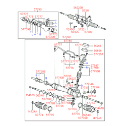 Втулка рулевого механизма (Hyundai-Kia) 5773222000