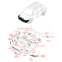 Гайка М6 (Hyundai-Kia) 1332405026