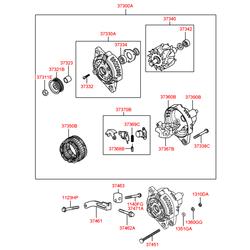 Гайка металлическая (Hyundai-Kia) 3746302503