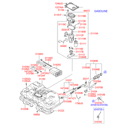 Гайка металлическая (Hyundai-Kia) 5465928000