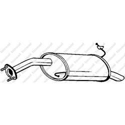 Глушитель выхлопных газов конечный (REIN) 165287