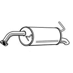 Глушитель выхлопных газов конечный (Walker) 22826