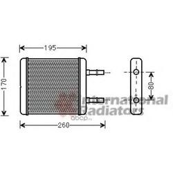 Теплообменник, отопление салона (Schlieckmann) 60826216
