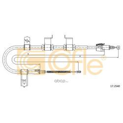 Трос стояночного тормоза левый задний (Cofle) 172540