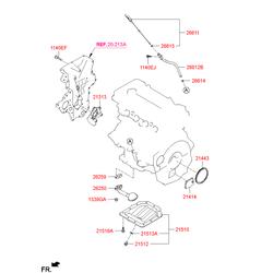 Кольцо резиновое (Hyundai-KIA) 266142B000