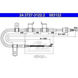 Трос, стояночная тормозная система (Ate) 24372731222