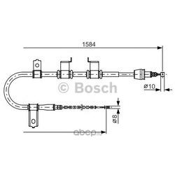 Трос, стояночная тормозная система (Bosch) 1987482223