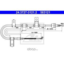 Трос, стояночная тормозная система (Ate) 24372731212