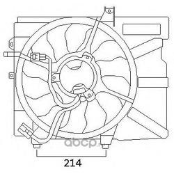 Вентилятор, конденсатор кондиционера (J. DEUS) EV54M320