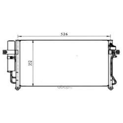 Конденсатор кондиционера (BodyParts) HNGEZ02931