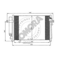 Конденсатор, кондиционер (SOMORA) 130560B