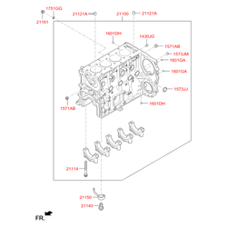 Крышка расширительного бачка (Hyundai-Kia) 1573316000