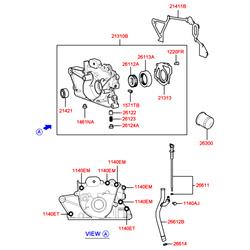 Насос масляный (Hyundai-KIA) 2131002550