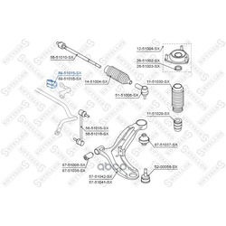 Опора, стабилизатор (Stellox) 8951015SX