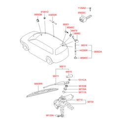 Поводок стеклоочистителя (Hyundai-Kia) 9881017000