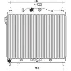 Радиатор, охлаждение двигателя (MAGNETI MARELLI) 350213935000