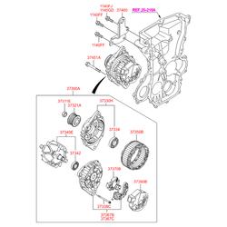Подшипник шариковый (Hyundai-Kia) 3734202550