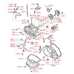 Прокладка резиновая (Hyundai-KIA) 4528536010