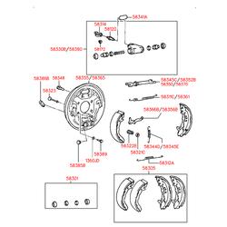Заглушка пластины тормозных колодок (Hyundai-Kia) 5838521000