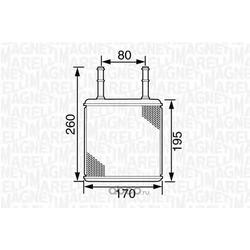 Теплообменник, отопление салона (MAGNETI MARELLI) 350218248000