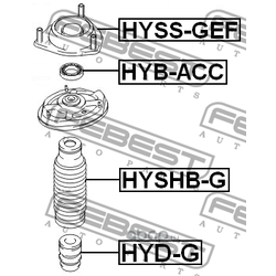Пыльник переднего амортизатора (Febest) HYSHBG