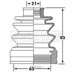 Пыльник, приводной вал (First line) FCB6245