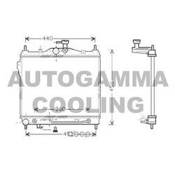 Радиатор (AUTOGAMMA) 104267