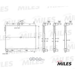 Радиатор (Miles) ACRB122
