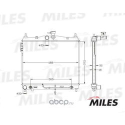 Радиатор (Miles) ACRB050
